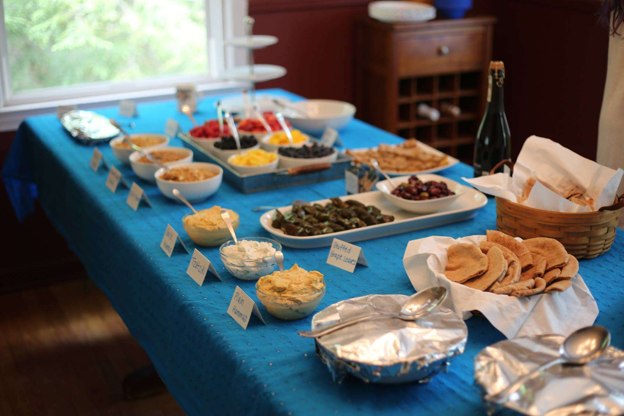 Our delicious Greek shower spread!