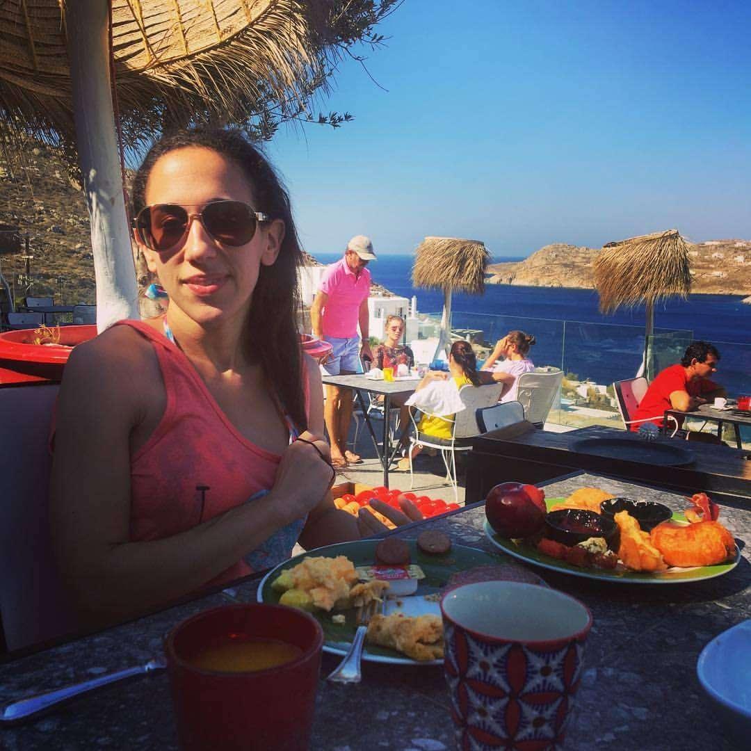 Enjoying an unbelievable breakfast buffet at the AVATON Restaurant