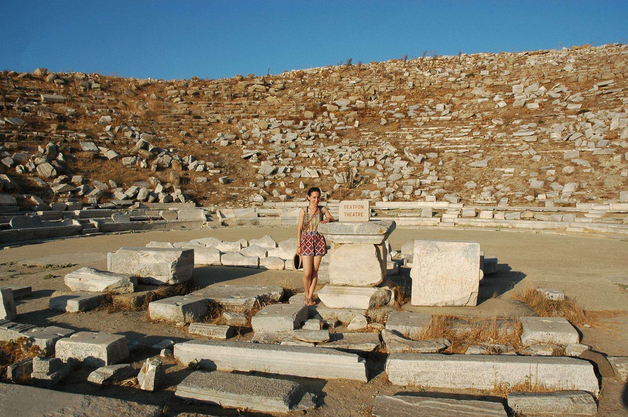 Ancient theatre in Delos