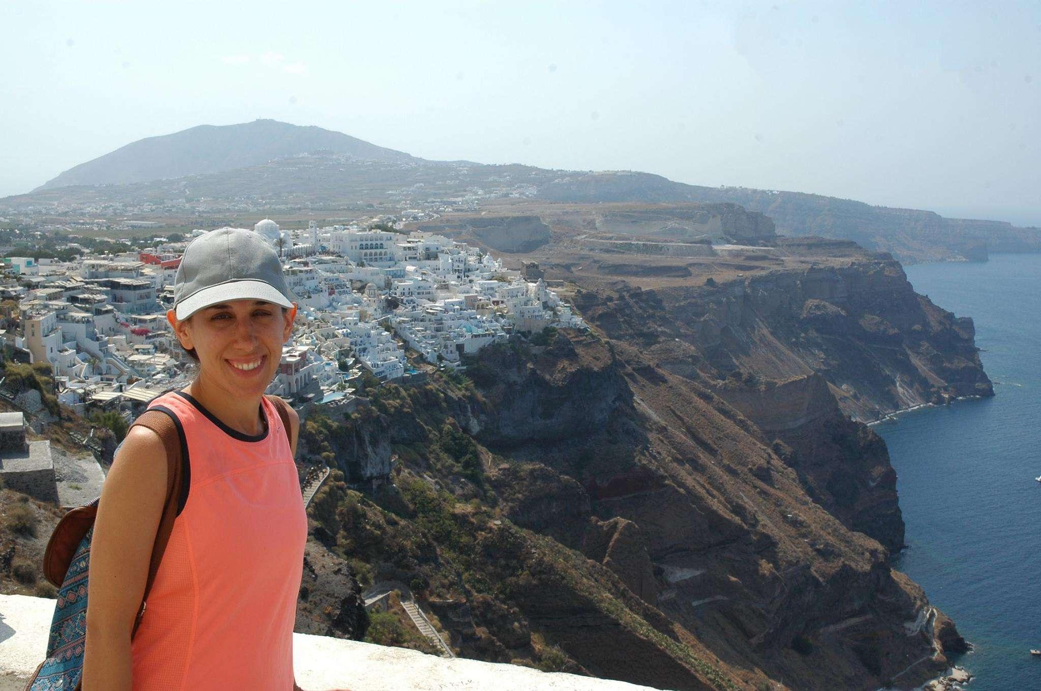 Overlooking Fira, Santorini