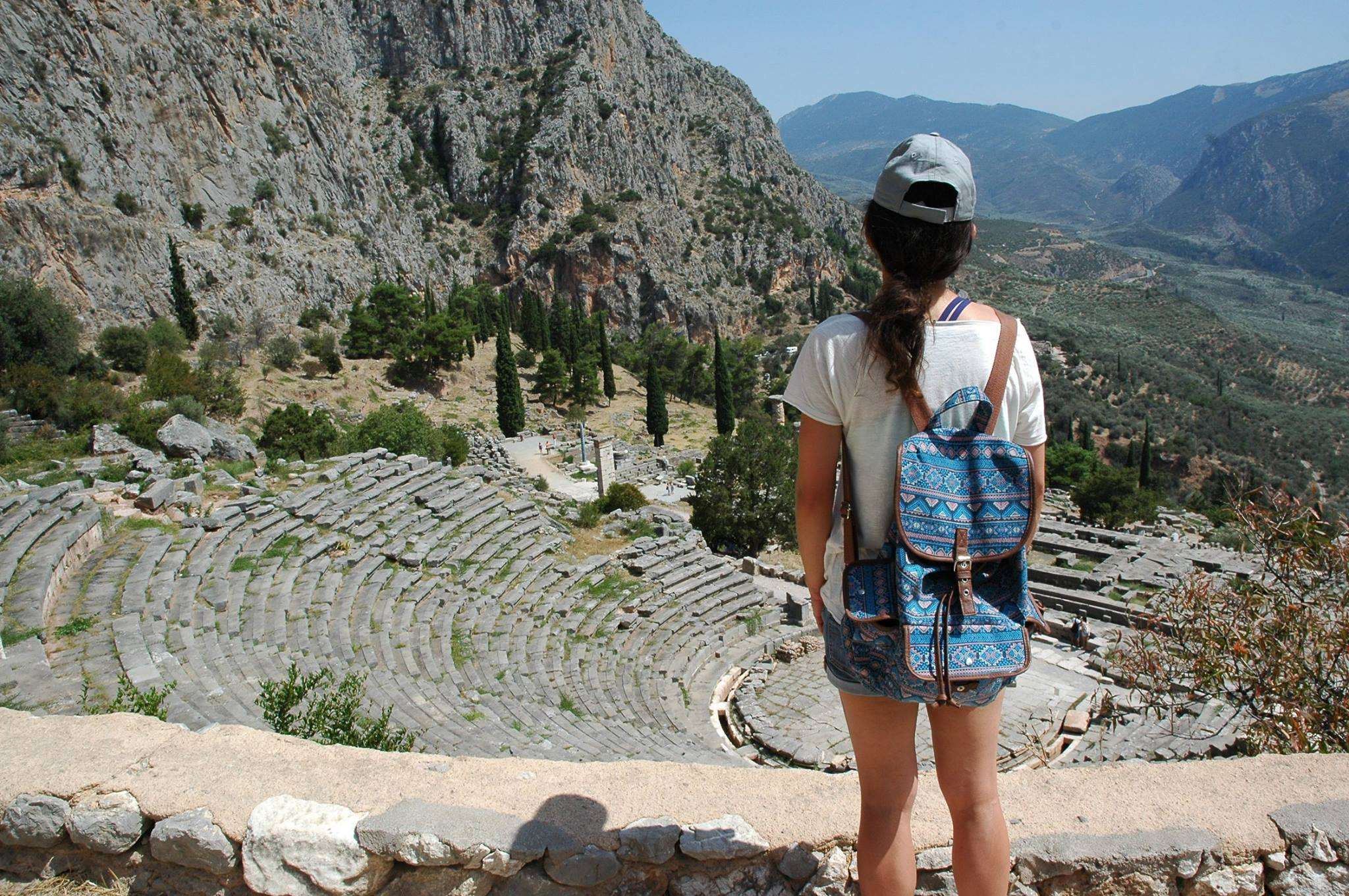 Overlooking the Theatre at Delphi
