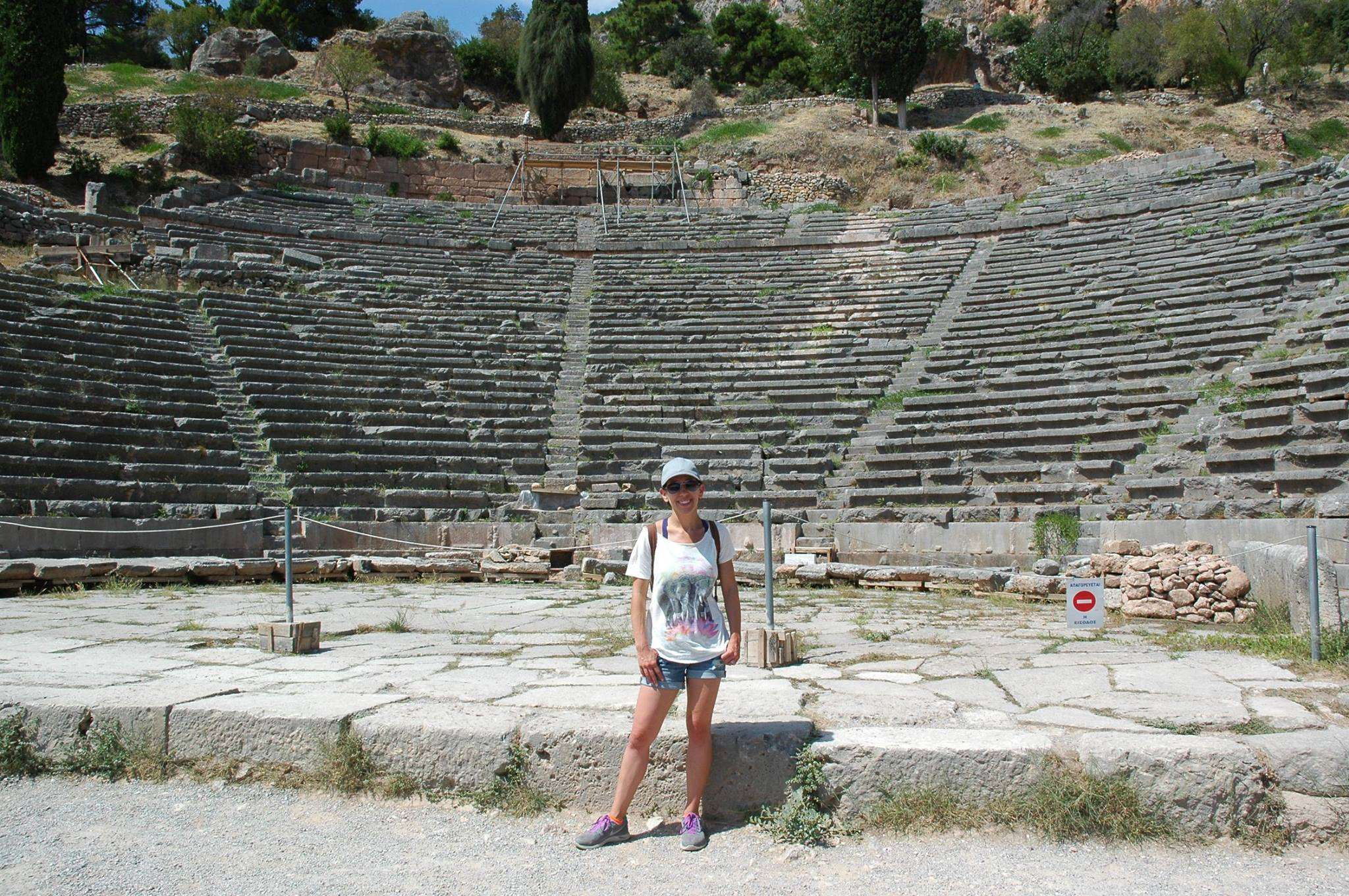 In front of the Theatre at Delphi