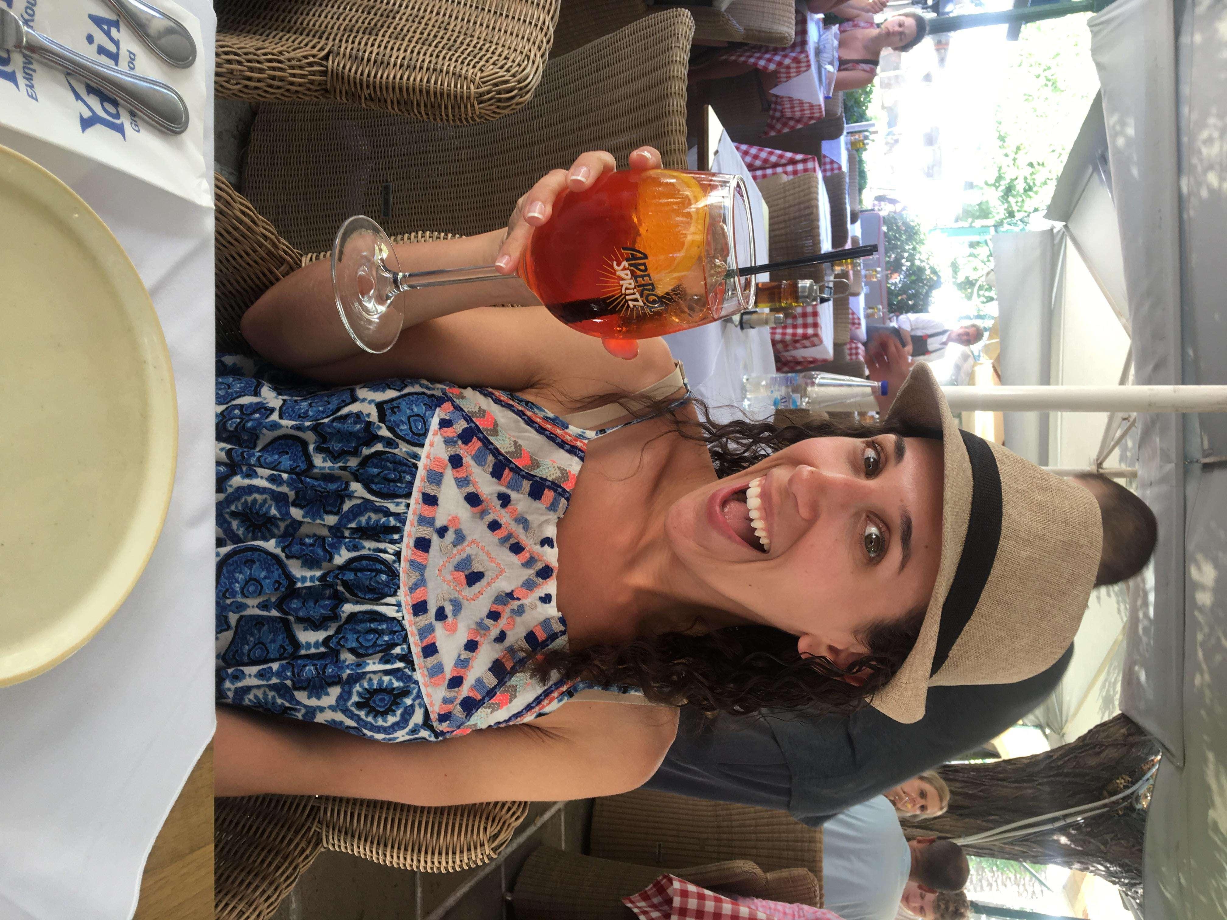Enjoying an Aperol Spritz in Athens