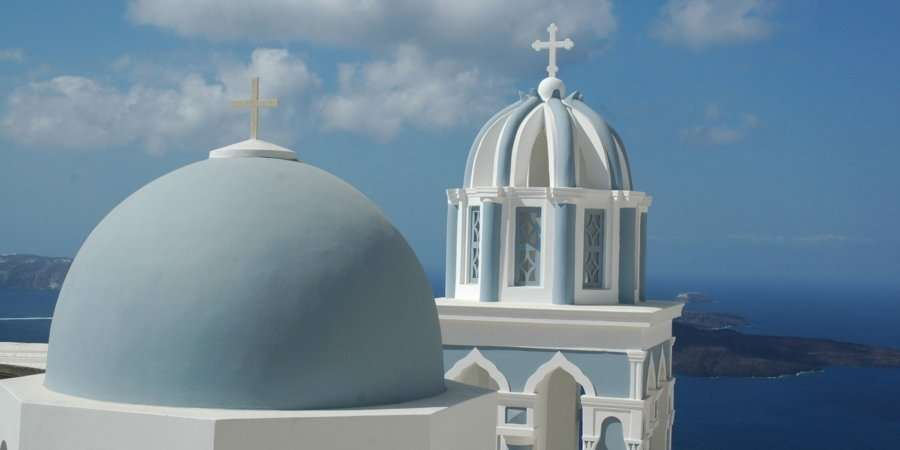 Churches in Fira, Santorini