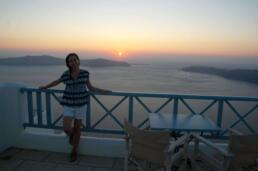 Catching the sunset at Absolute Bliss Hotel in Santorini