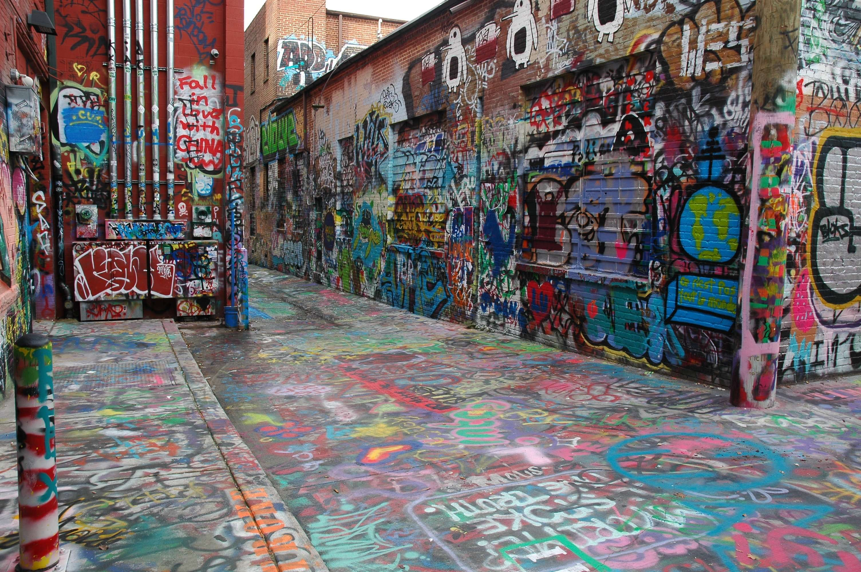 Graffiti Alley in Baltimore