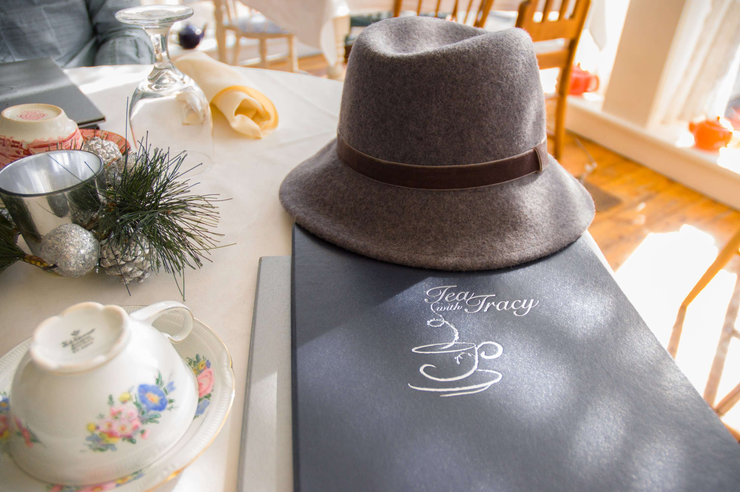 The menu of teas
