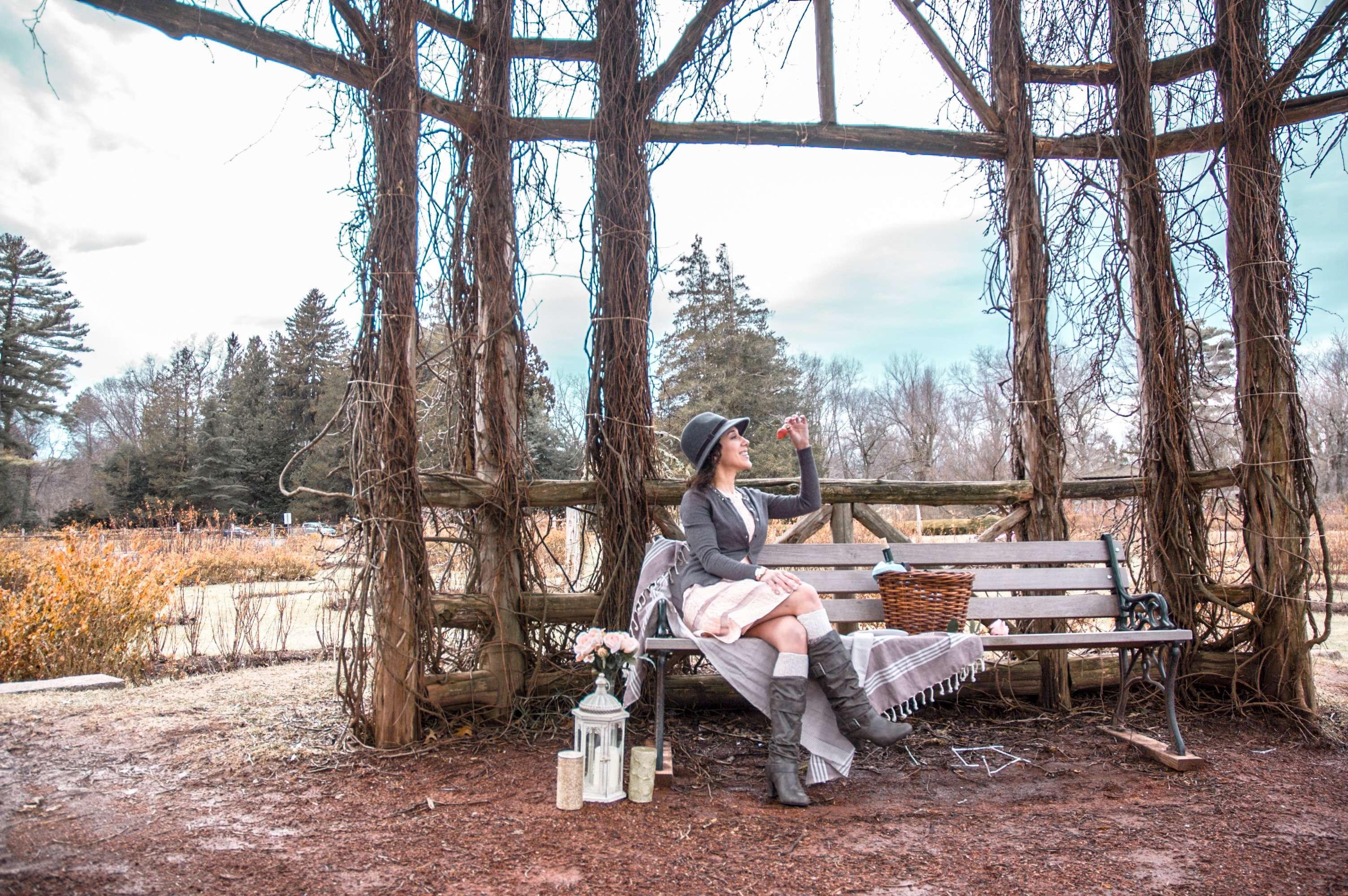 Picnic at Elizabeth Park Rose Garden in Hartford