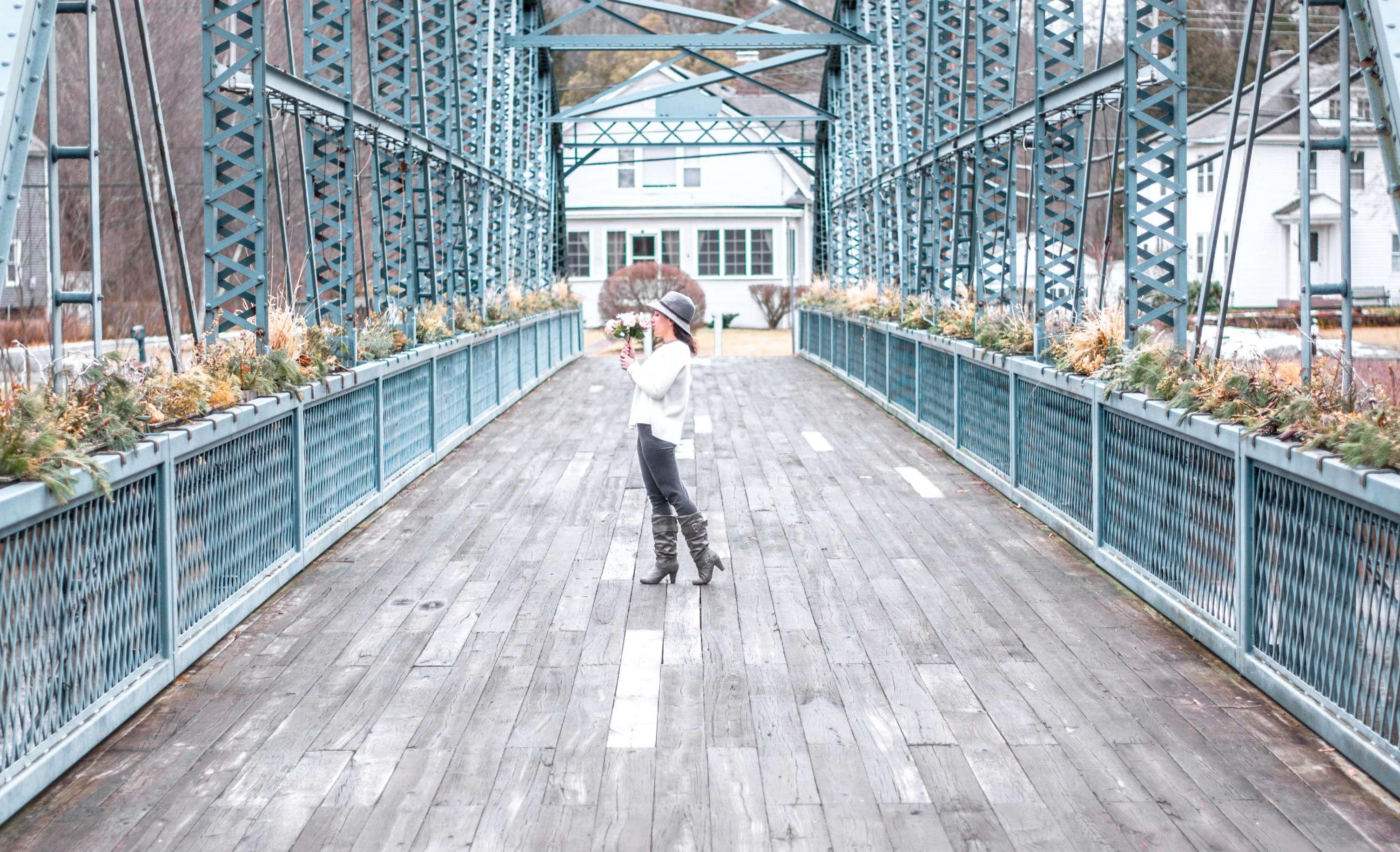Dreaming of springtime at The Old Drake Hill Flower Bridge