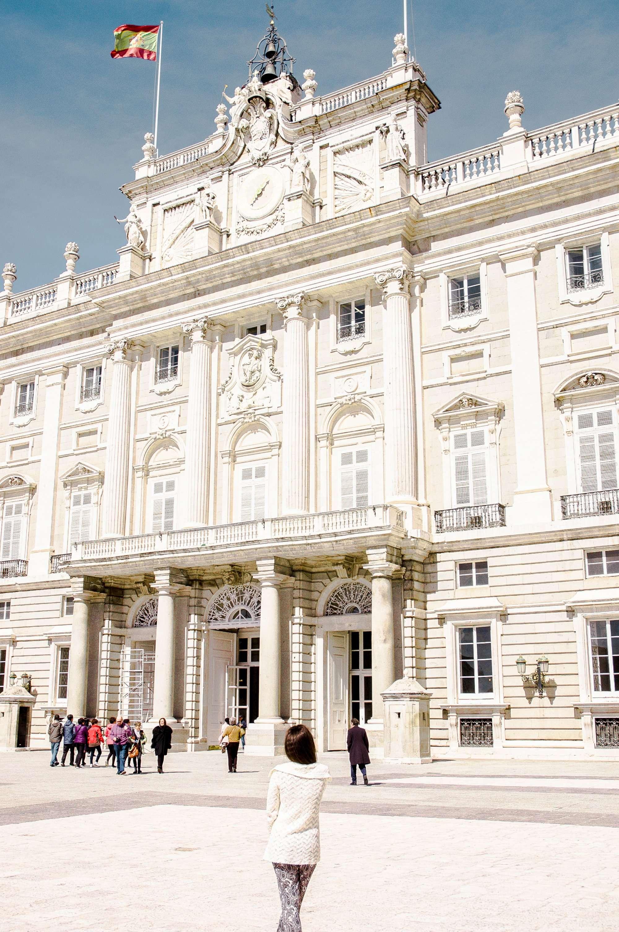 Admiring the Royal Palace