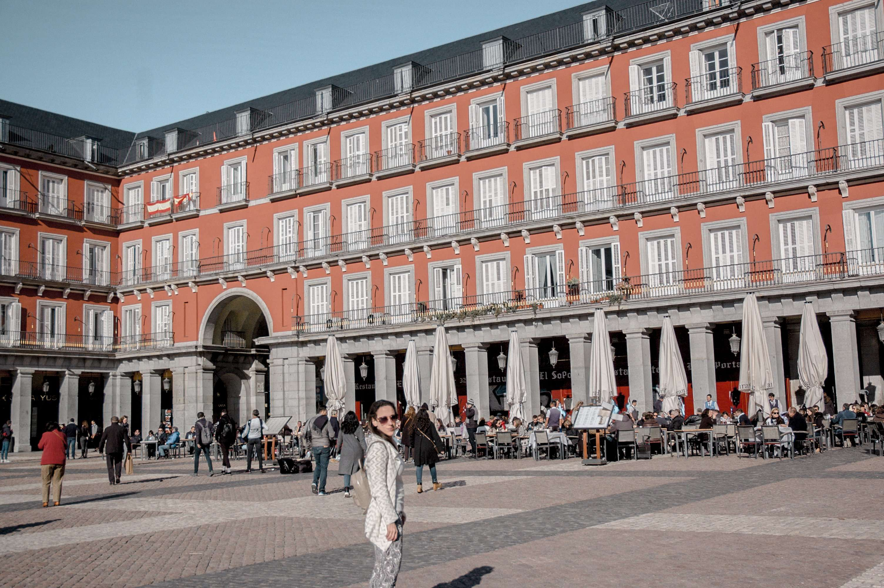 A poor attempt at a Plaza Mayor photo without the crowds