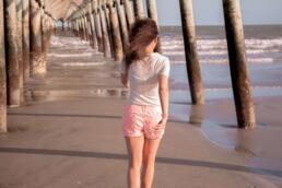 Walking Under Folly Beach Pier