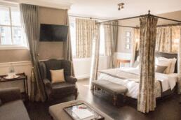 Four poster bed in our Pand Hotel suite