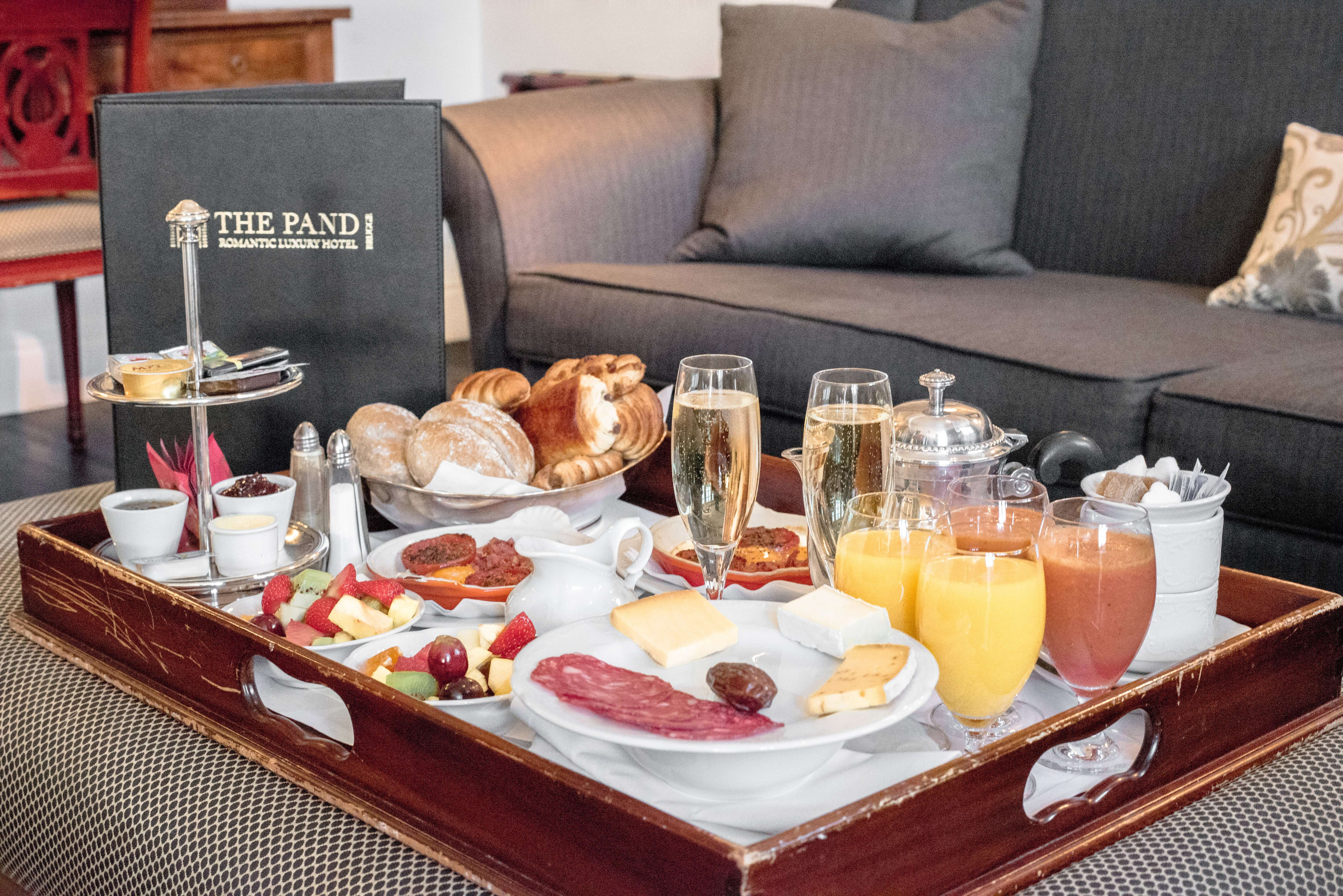 Champagne breakfast from The Pand Hotel