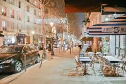 Rue des Martyrs at night