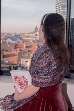 Enjoying the view at Le Châtelain Brussels Hotel