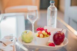 Welcome fruit from Le Châtelain Brussels Hotel