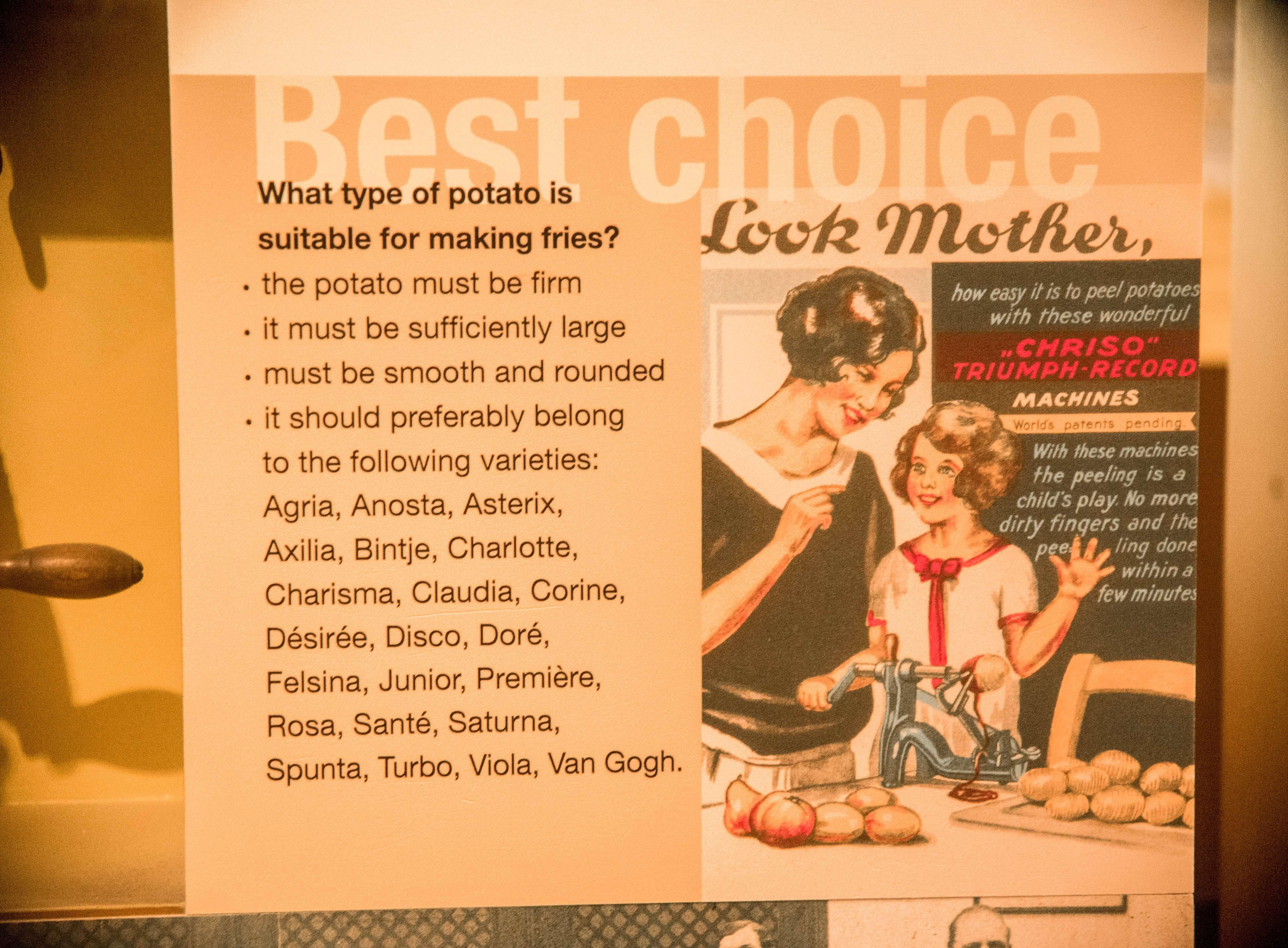 Frietmuseum potato facts