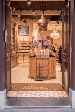 Chocolate shops in Bruges