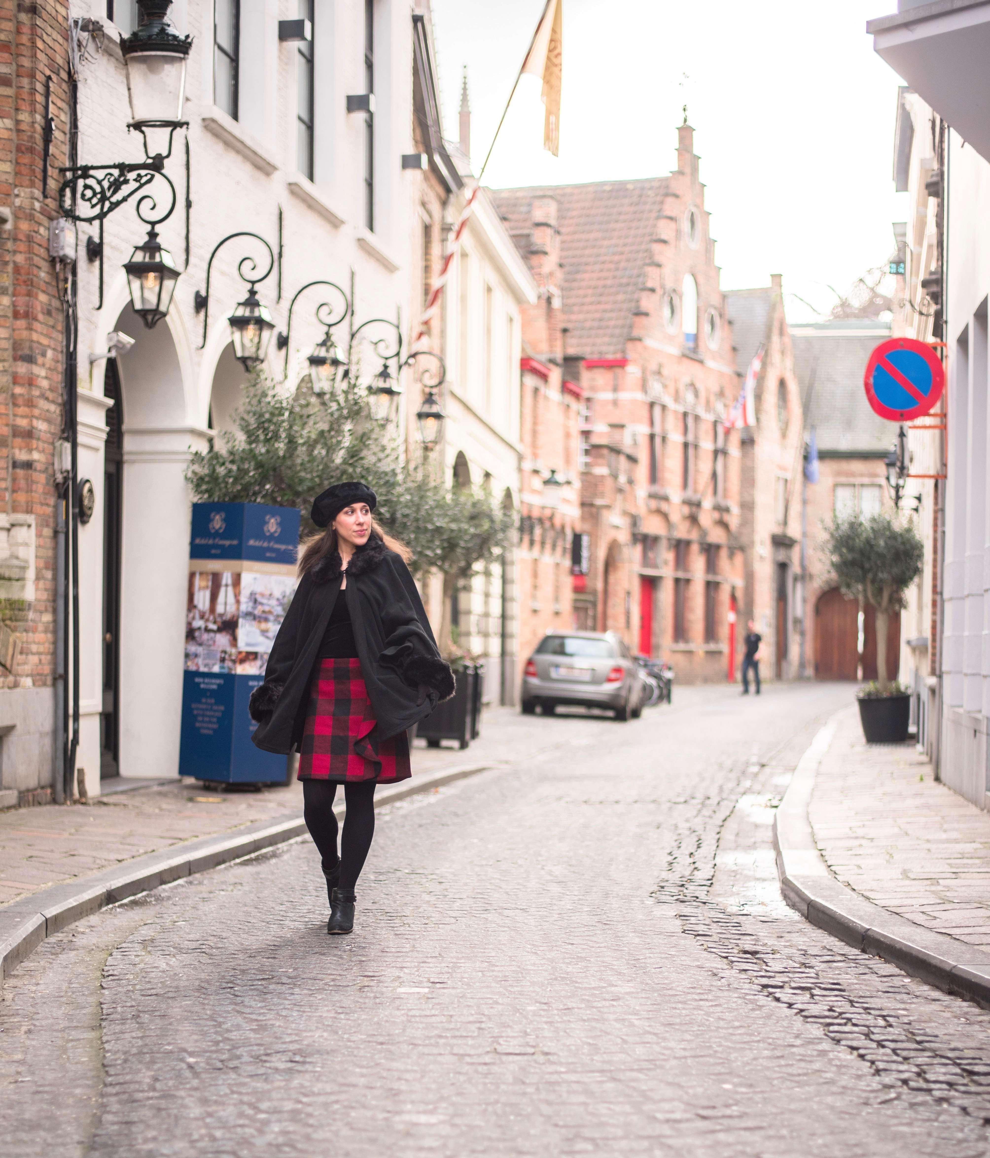 Cobblestone streets of Bruges