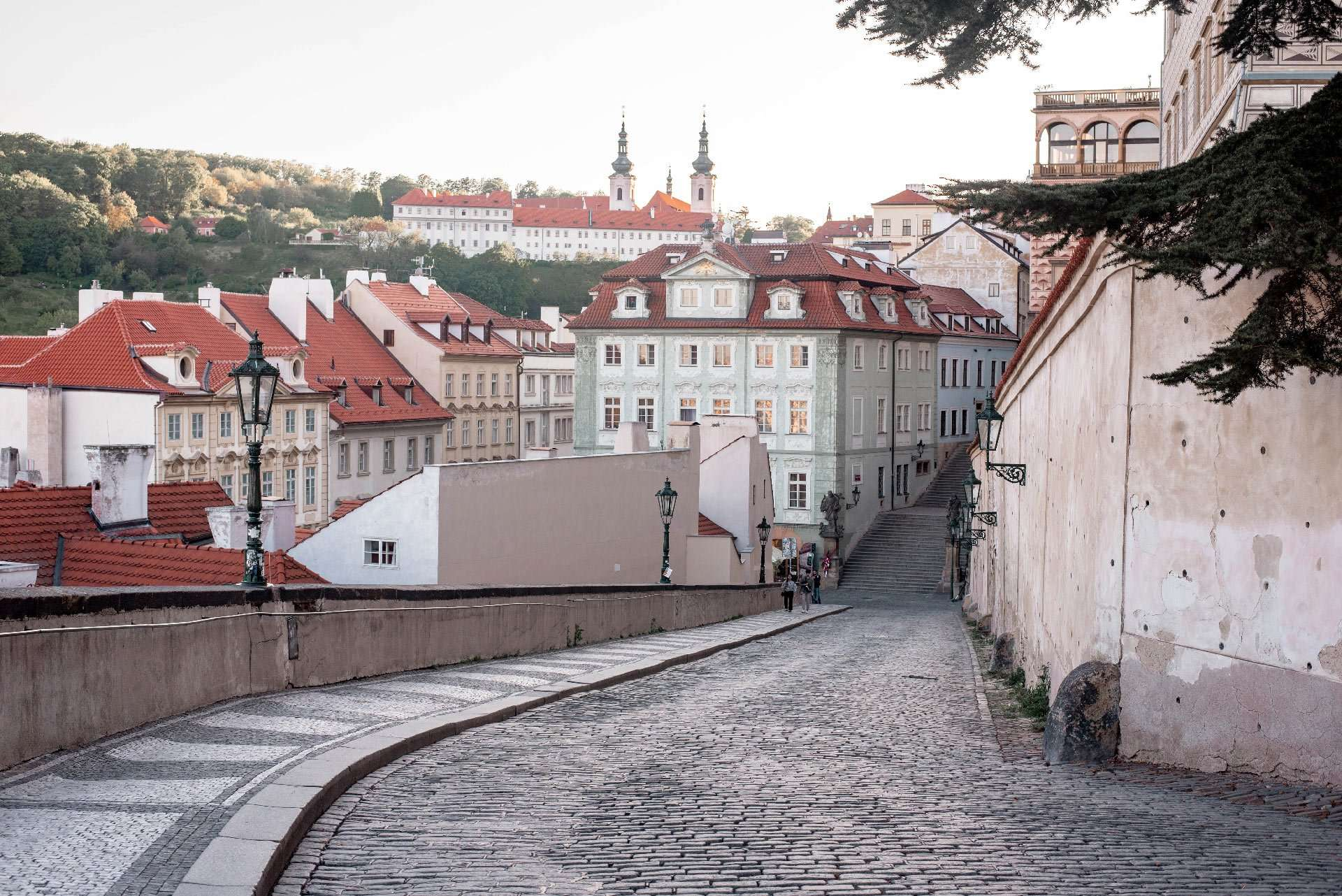 Road from Prague Castle to Nerudova Street