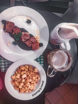 Pork tenderloin in plum brandy sauce & gingerbread gnocchi