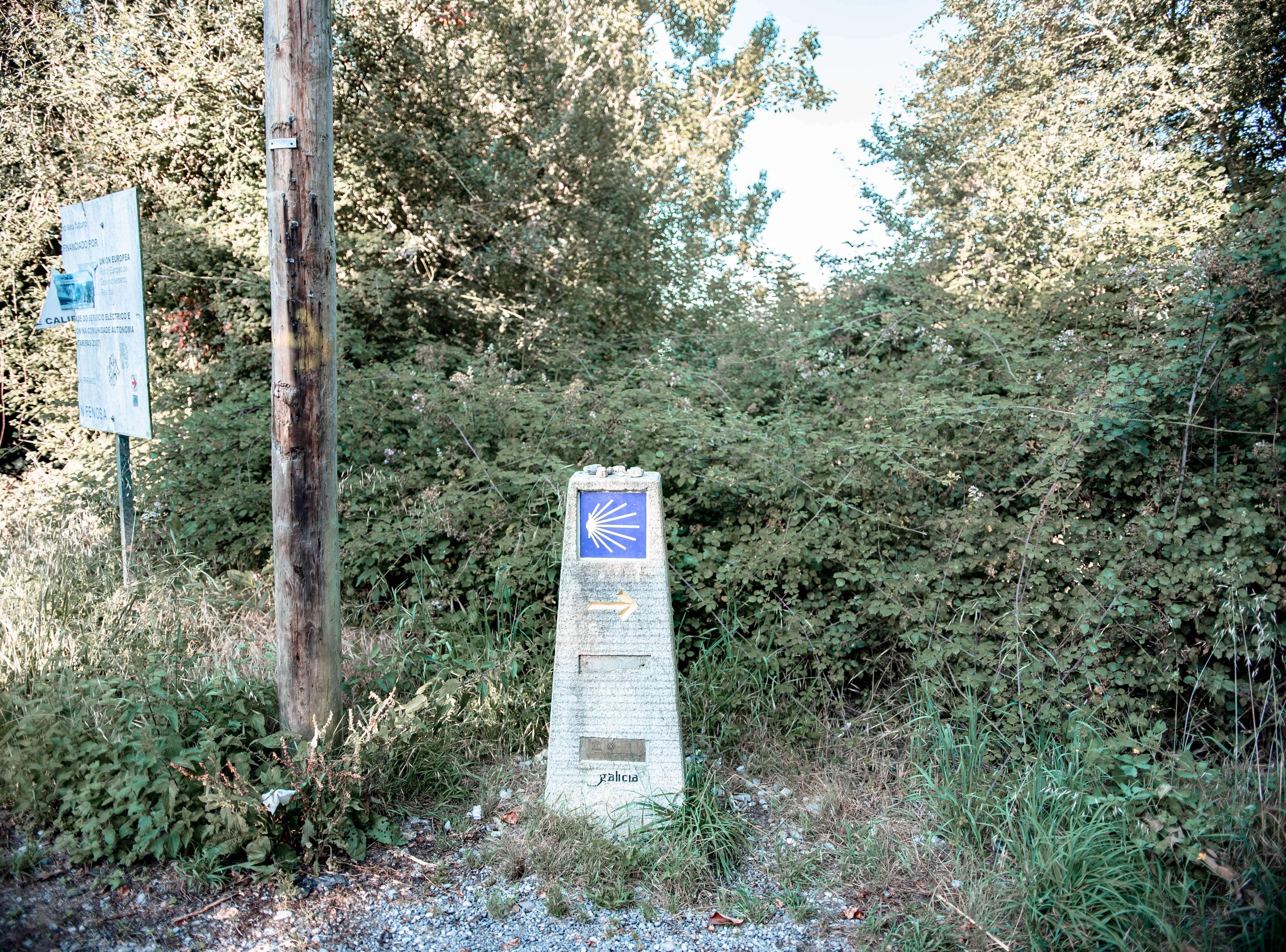 Marker Camino de Santiago