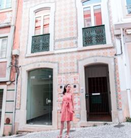 Pink Portuguese tile