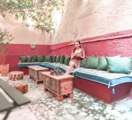 Alcanea Boutique Hotel outdoor/indoor space