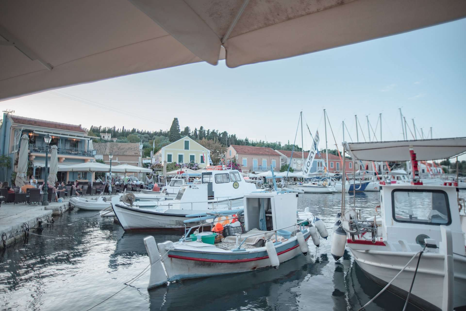 Boats in Fiskardo Harbor