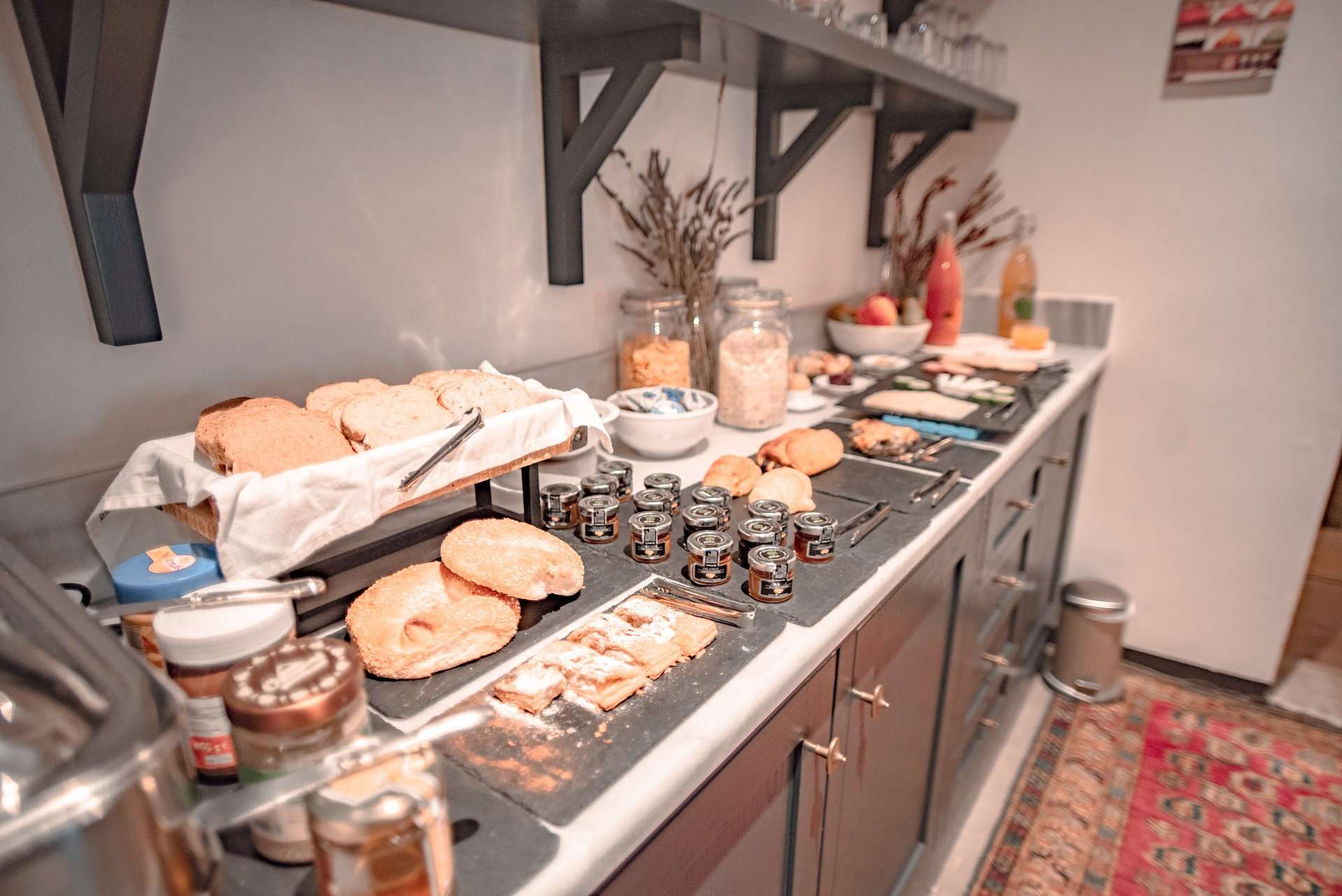 Breakfast spread at North Point Rooms 1953