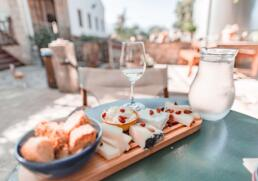 Cheese platter at Dourakis Winery, Crete