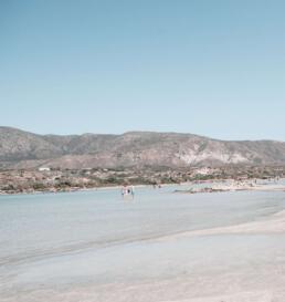 Elafonisi beach lagoon