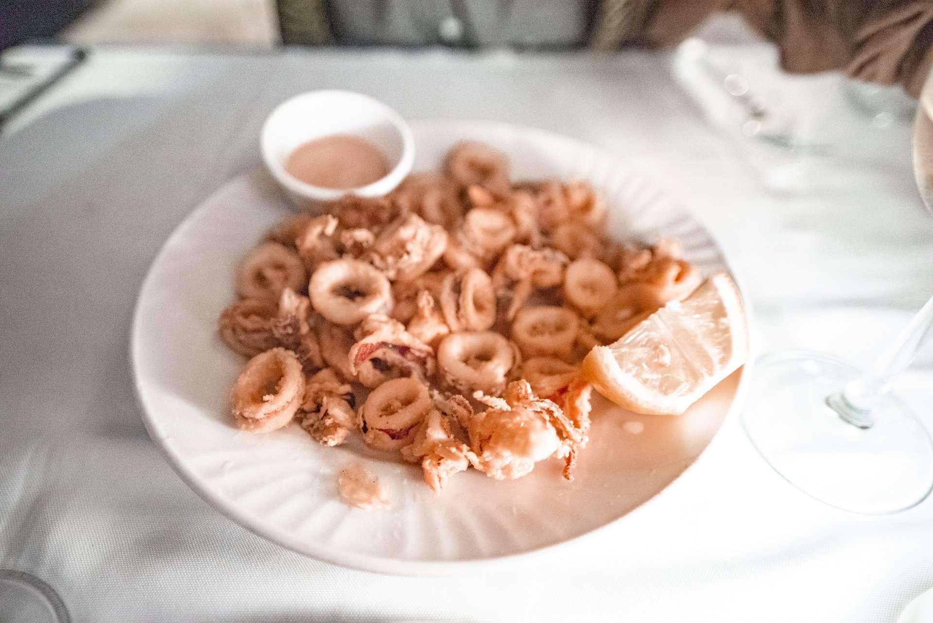 Fried squid at Tassia Restaurant