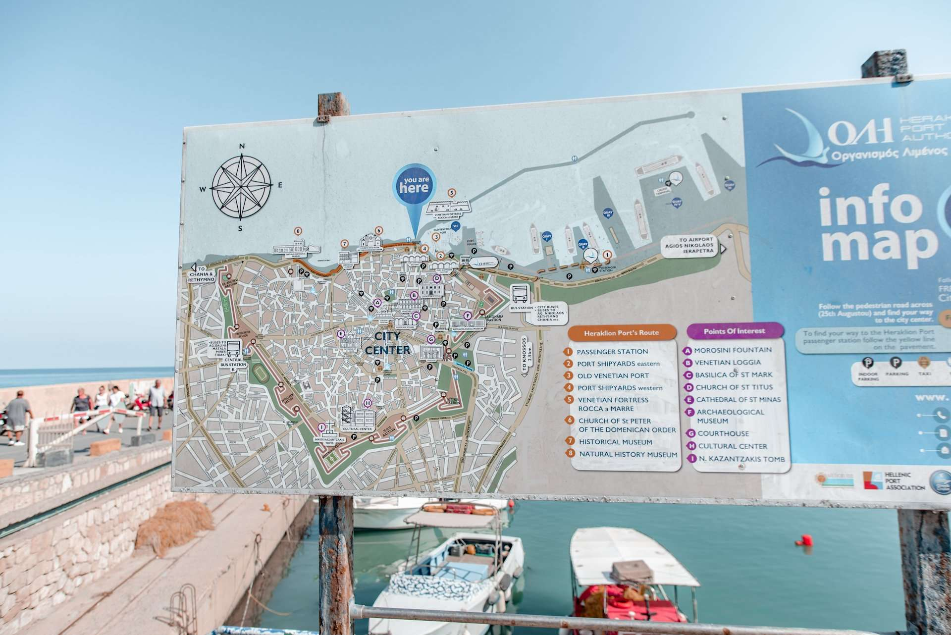 Heraklion city map