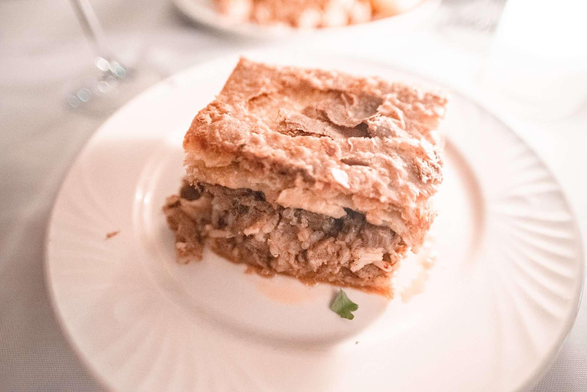Kefalonian meat pie at Tassia Restaurant