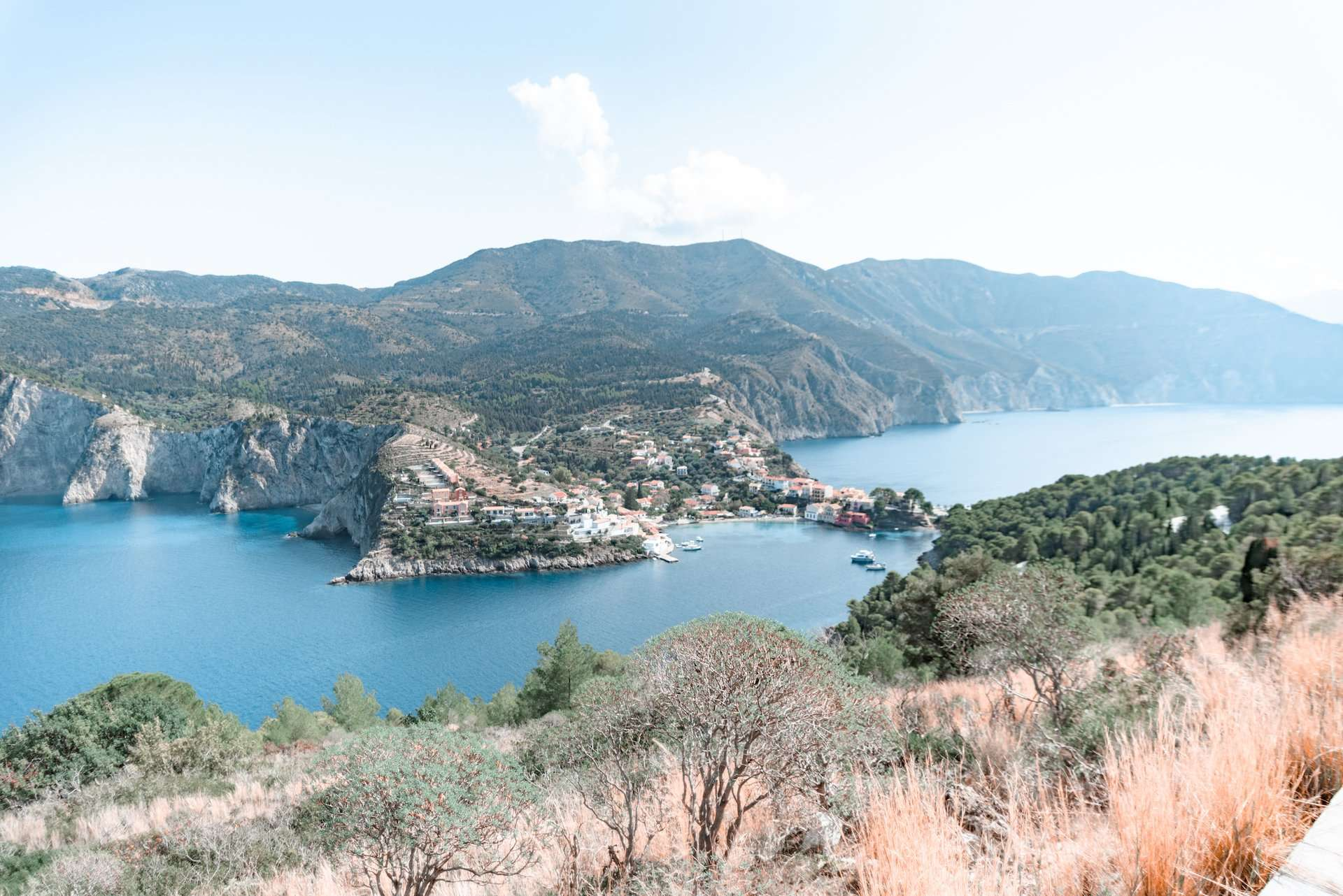 Best view from Assos Castle, Kefalonia