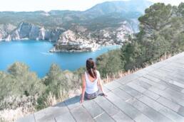 Assos Castle hiking path view