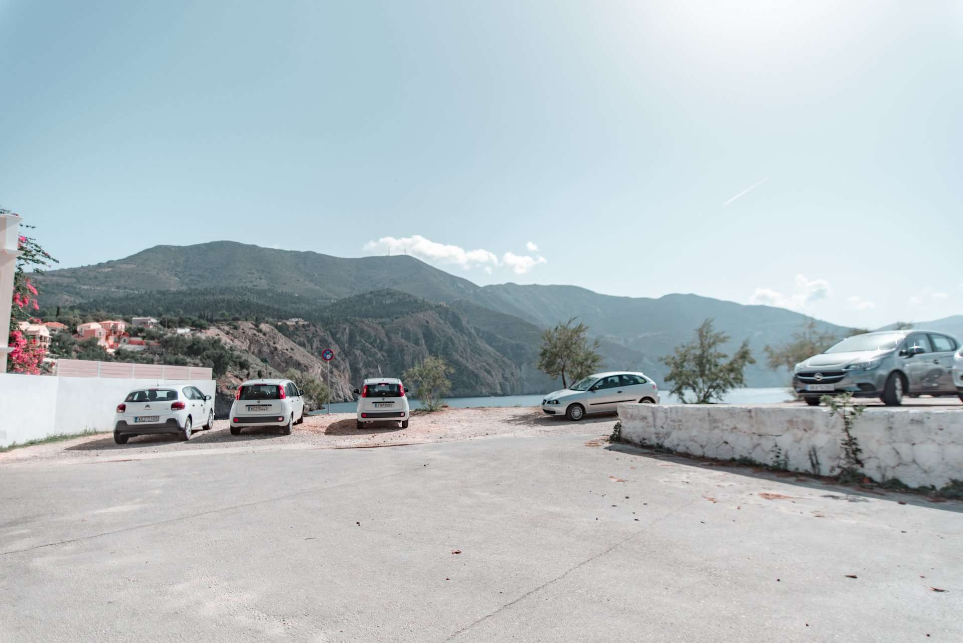 Assos, Kefalonia parking lot