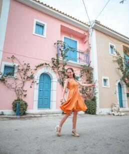Colorful homes of Assos village