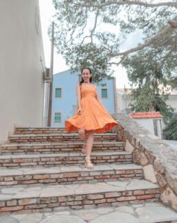 Staircase in Assos village, Kefalonia