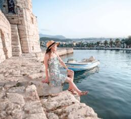 Sitting along Rethymno's Venetian Harbor
