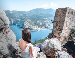 View from the Top of Assos Castle in Kefalonia