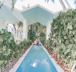Beautiful pool on Lincoln Road, Miami