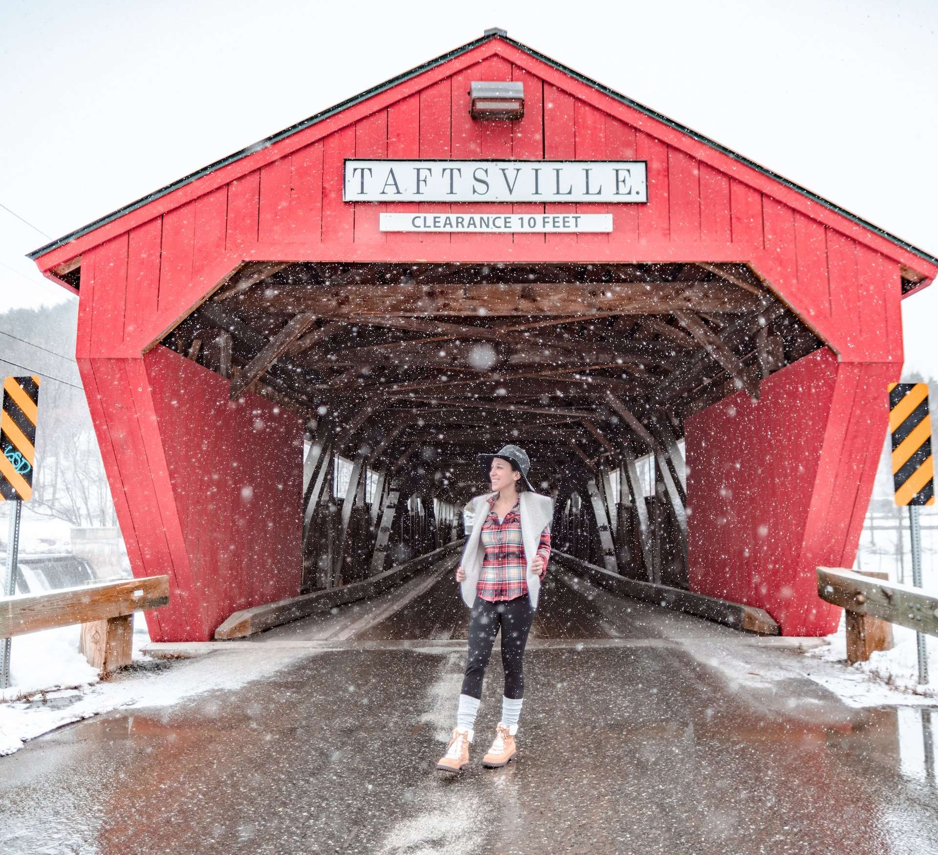 Taftsville Covered Bridge in Woodstock