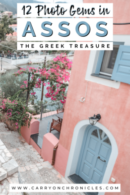 Pastel pink home in Assos, Kefalonia