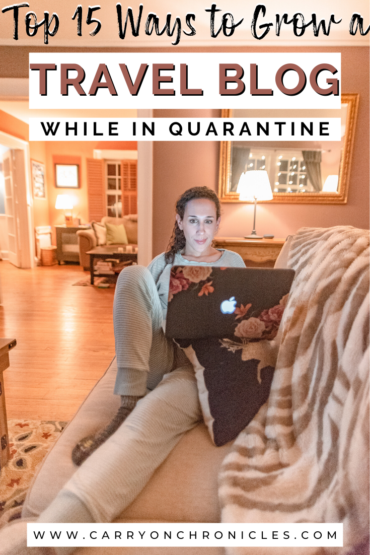 Working on travel blog from home