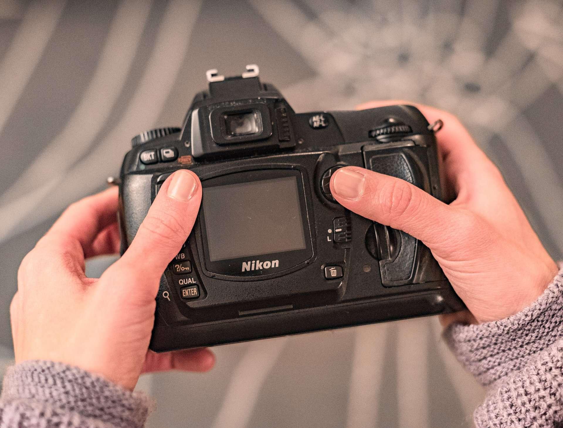 Looking at Nikon camera