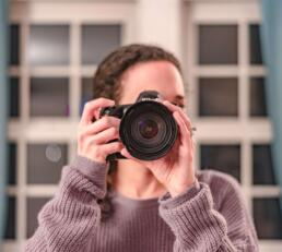 Taking a photograph with camera