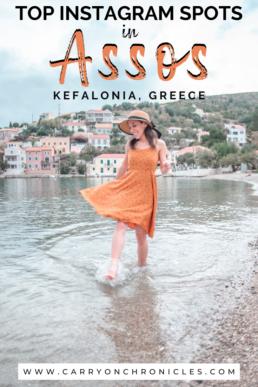 Assos beach in Kefalonia